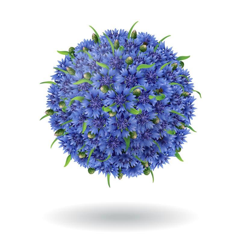 Флористический шарик бесплатная иллюстрация