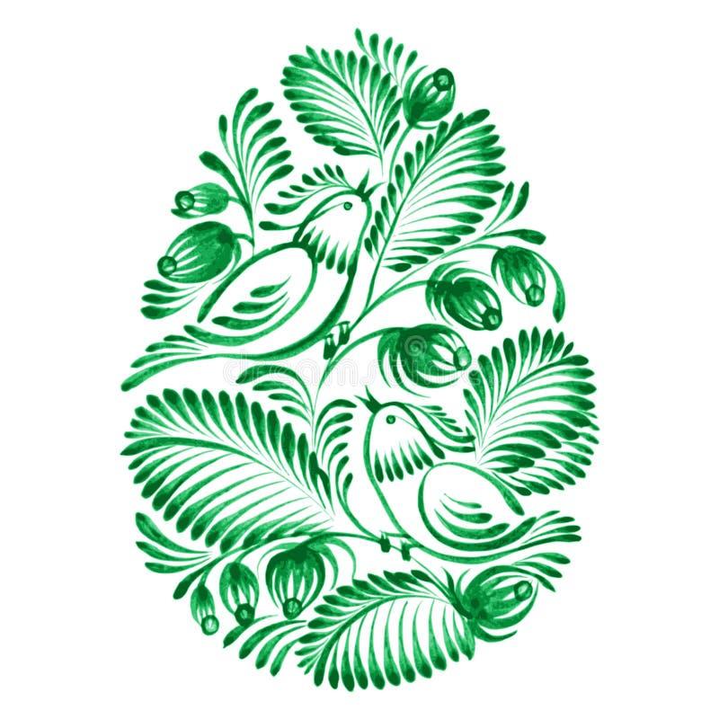 Флористическое декоративное пасхальное яйцо орнамента иллюстрация вектора
