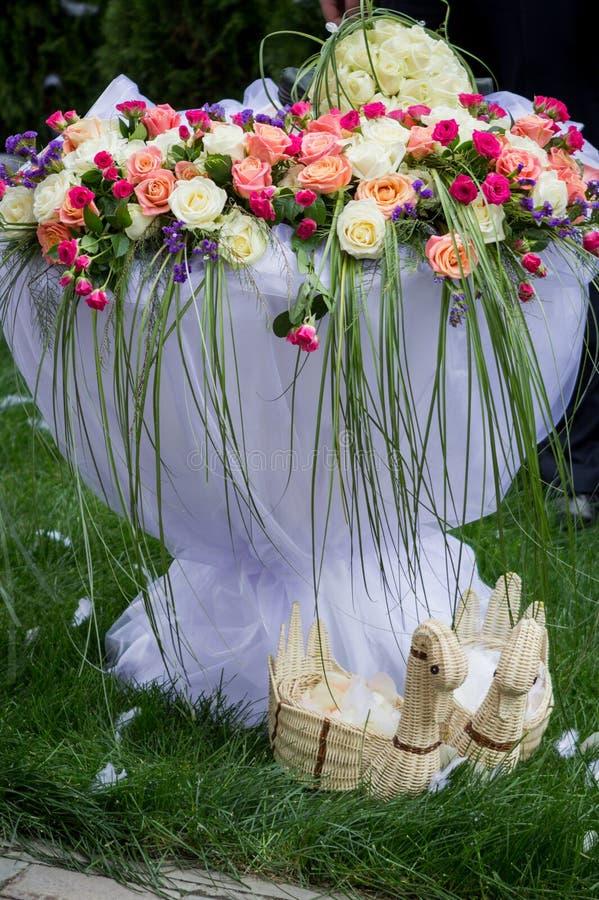 Флористическое украшение свадьбы стоковая фотография rf