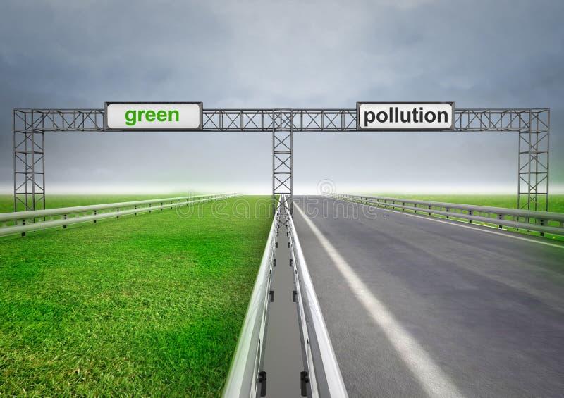 Хайвей для экологического и нормального перехода с небом бесплатная иллюстрация