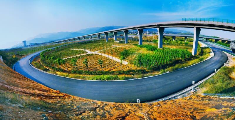 Хайвей и viaduct стоковое изображение
