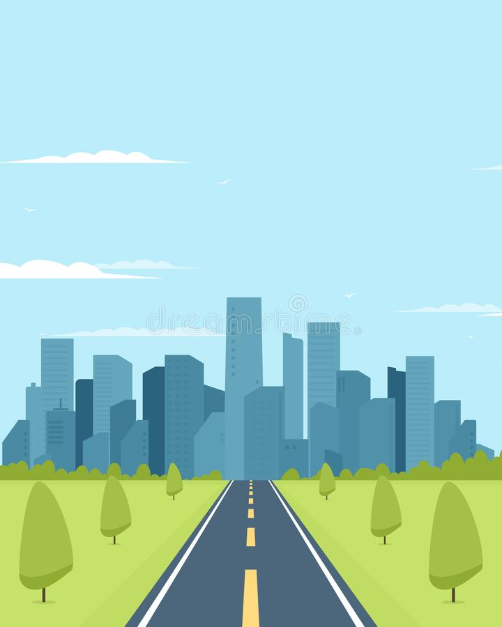 хайвей рубрики города к бесплатная иллюстрация