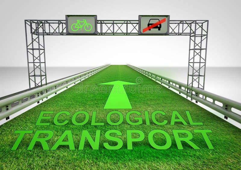 Хайвей травы только для экологического перехода иллюстрация вектора