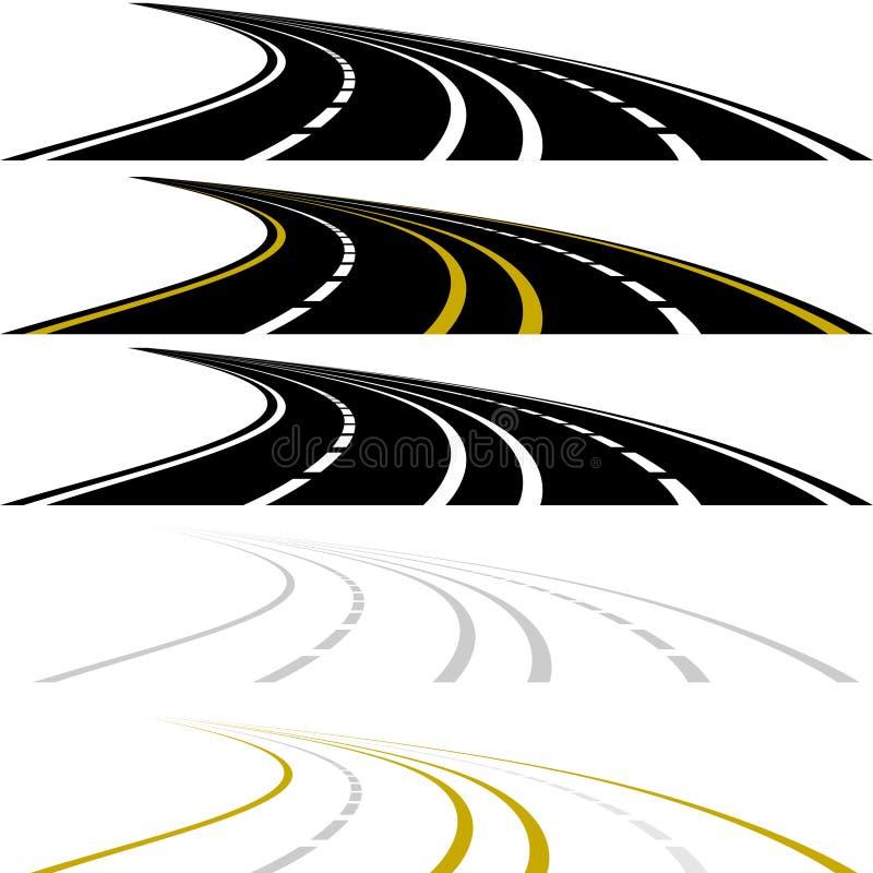Хайвей иллюстрация вектора