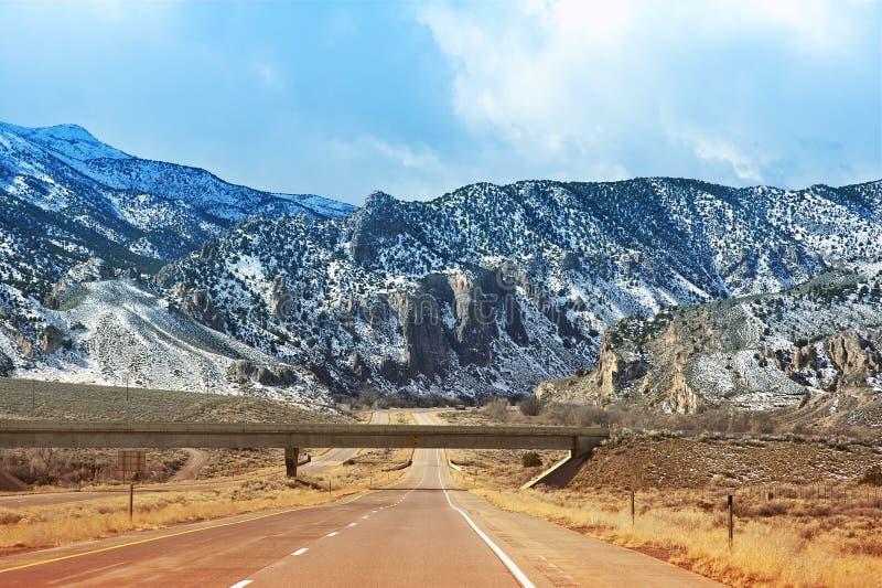Хайвей I-15 в Юте стоковое фото rf