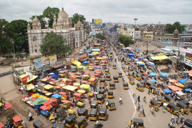 Хайдарабад, Индия - птиц-взгляд стоковые фотографии rf
