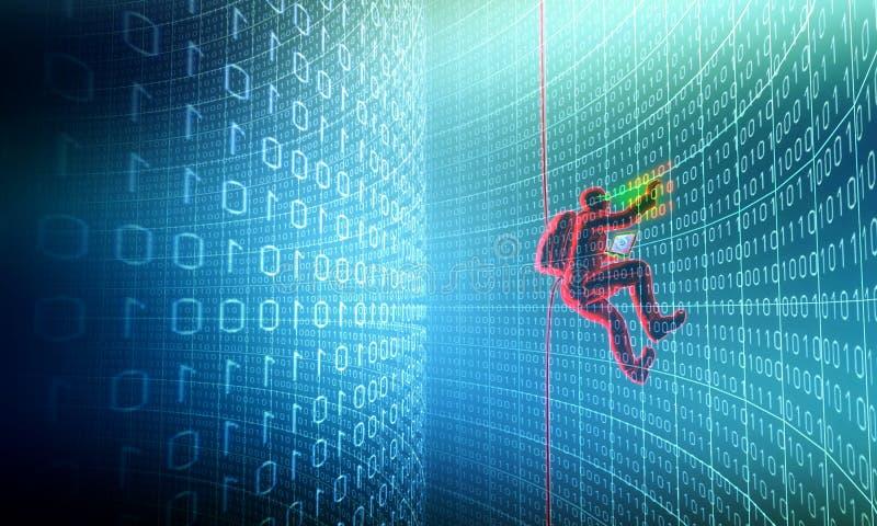 хакер действия бесплатная иллюстрация