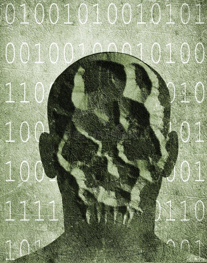 Хакер с маской черепа бесплатная иллюстрация