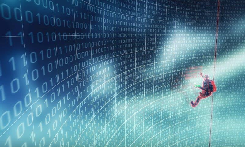 хакер 01 действия иллюстрация вектора