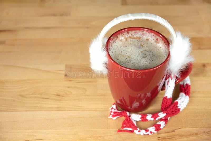 Халявы уха на горячем напитке какао стоковое изображение rf