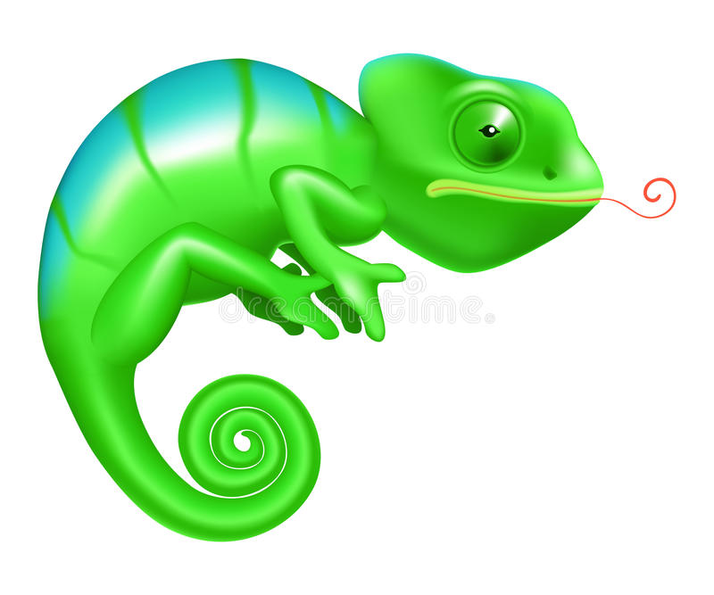 хамелеон иллюстрация штока