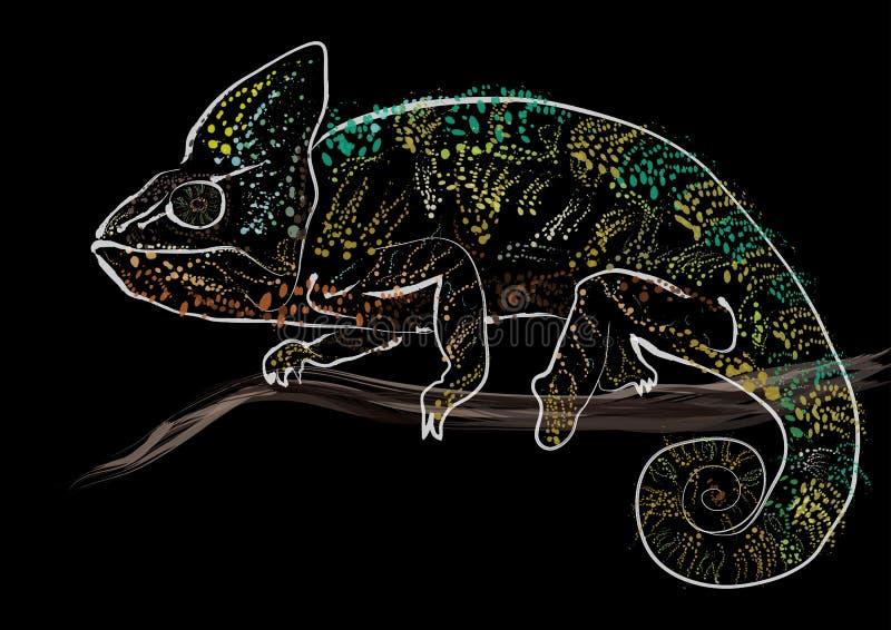 хамелеон цветастый стоковое фото rf