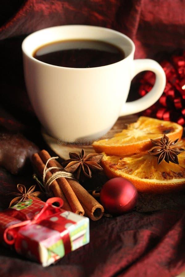 Ханжи, специи и кофе рождества стоковые фото
