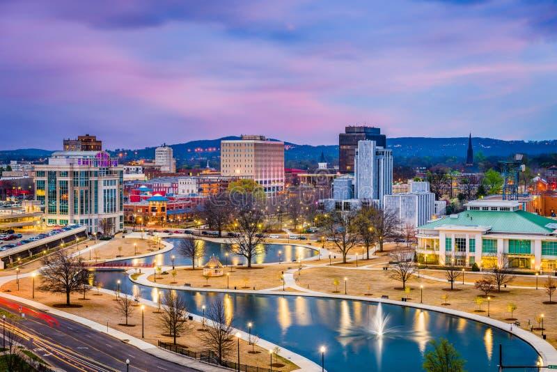 Хантсвилл, Алабама, горизонт США стоковые изображения rf