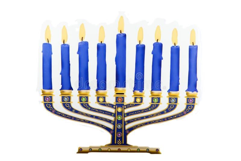 Ханука Menorah на еврейский праздник стоковое изображение rf