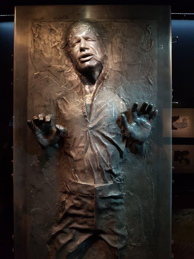 Хан сольный в Carbonite стоковое фото rf