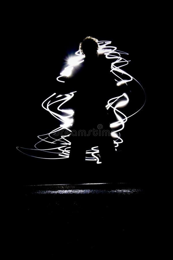 хаотическая диаграмма света стоковое изображение rf