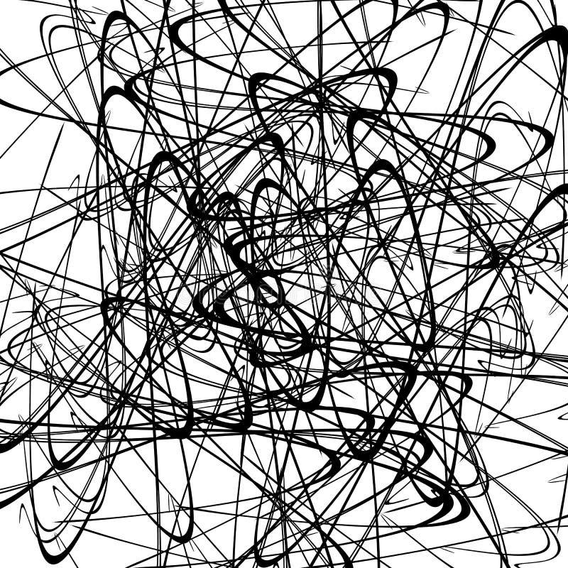 Download Хаотические случайные изогнутые линии Абстрактная художническая картина, Backgrou Иллюстрация вектора - иллюстрации насчитывающей перекрывать, иллюстрация: 81811496