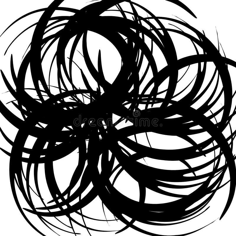 Download Хаотические случайные изогнутые линии Абстрактная художническая картина, Backgrou Иллюстрация вектора - иллюстрации насчитывающей геометрическо, хитроумного: 81811499