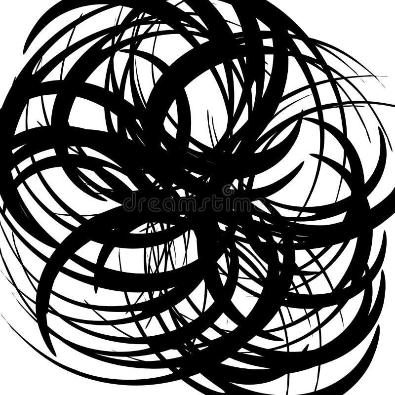 Download Хаотические случайные изогнутые линии Абстрактная художническая картина, Backgrou Иллюстрация вектора - иллюстрации насчитывающей несимметричной, курчаво: 81811500