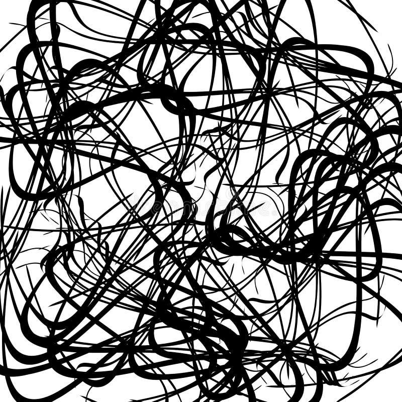 Download Хаотические случайные изогнутые линии Абстрактная художническая картина, Backgrou Иллюстрация вектора - иллюстрации насчитывающей shaggy, картина: 81811508