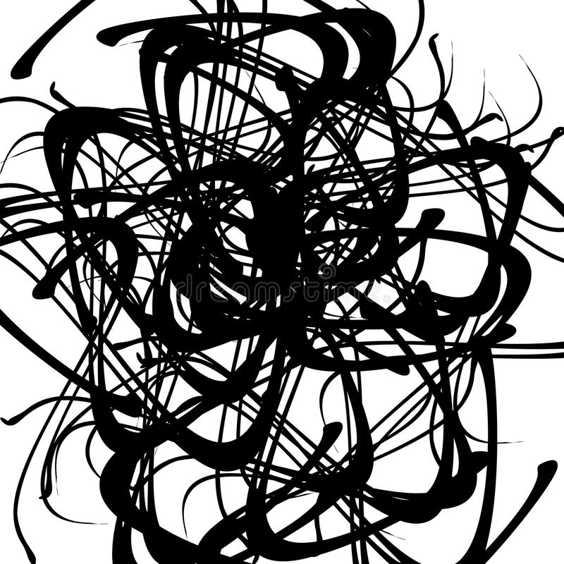 Download Хаотические случайные изогнутые линии Абстрактная художническая картина, Backgrou Иллюстрация вектора - иллюстрации насчитывающей хаотическо, скручиваемость: 81811513