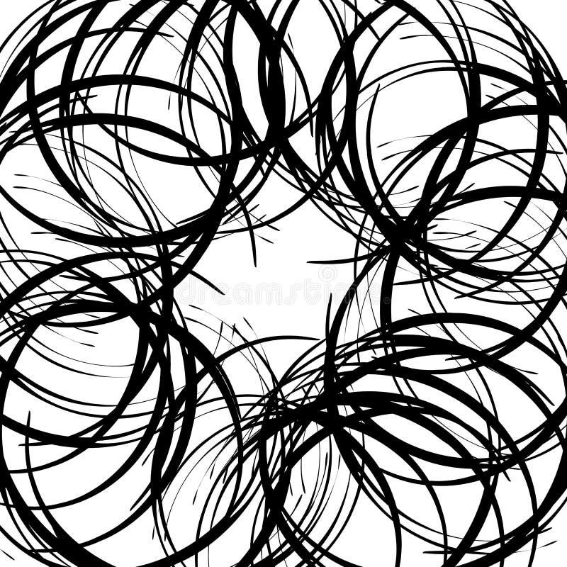 Download Хаотические случайные изогнутые линии Абстрактная художническая картина, Backgrou Иллюстрация вектора - иллюстрации насчитывающей curvy, разносторонне: 81811520