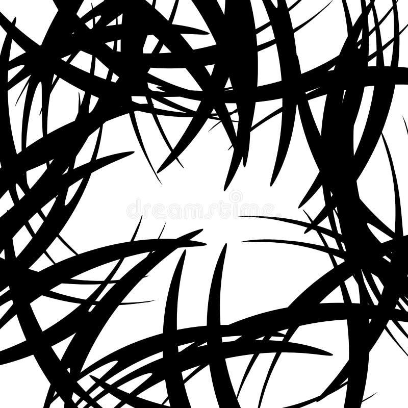 Download Хаотические случайные изогнутые линии Абстрактная художническая картина, Backgrou Иллюстрация вектора - иллюстрации насчитывающей беспорядок, ексцентрическо: 81811534