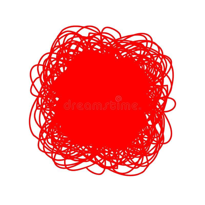 Хаотический чертеж круга doodle формы руки вычерченные Handdrawn эскиз каракулей бесплатная иллюстрация