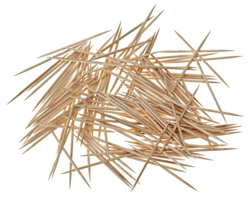хаотическо много разбросанных toothpicks стоковые фото