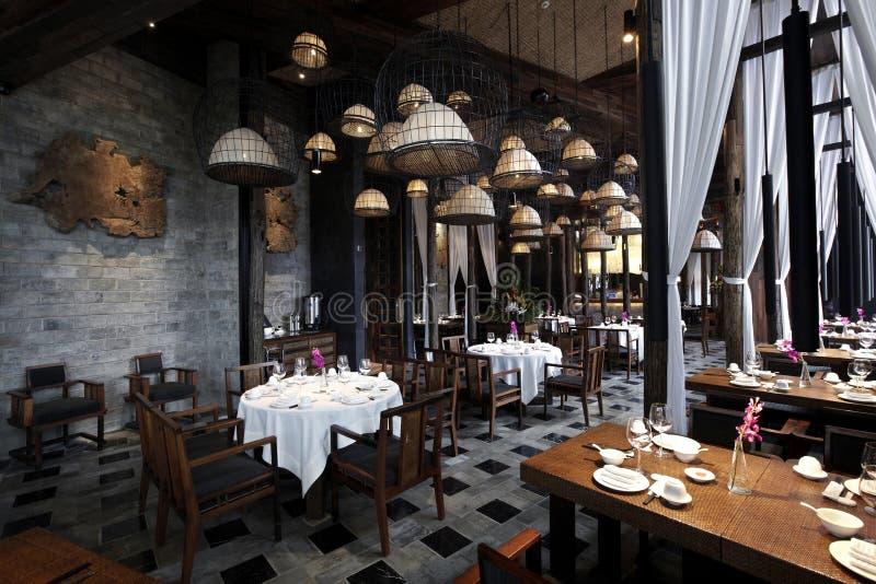 Характеристики типа South Asia восстанавовили ресторан стоковые изображения rf