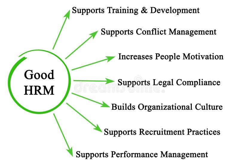 Характеристики хорошего HRM иллюстрация вектора