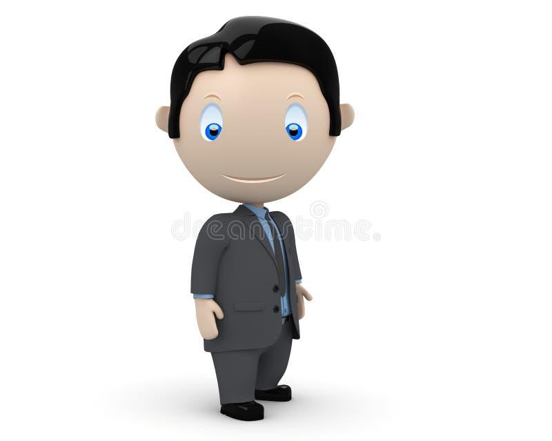 характеры бизнесмена 3d социальные бесплатная иллюстрация