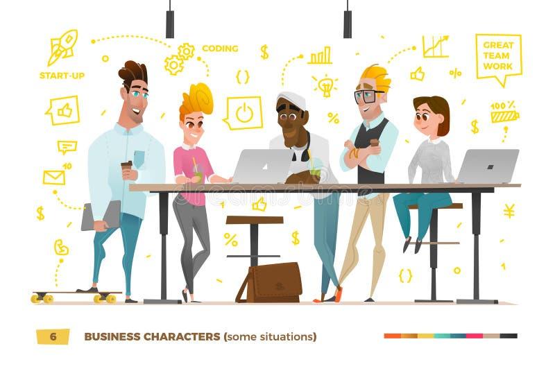 Характеры дела в рабочей Среде бесплатная иллюстрация
