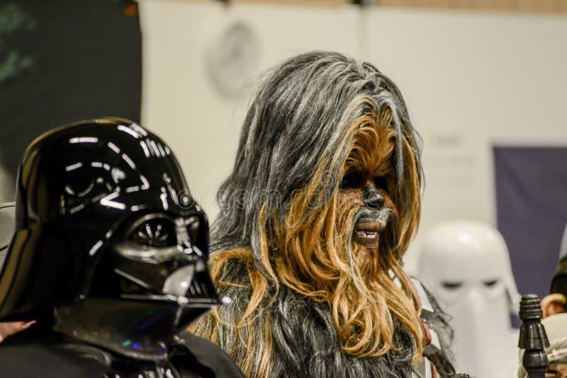 Характеры Звездных войн на шуточной конвенции жулика стоковое фото