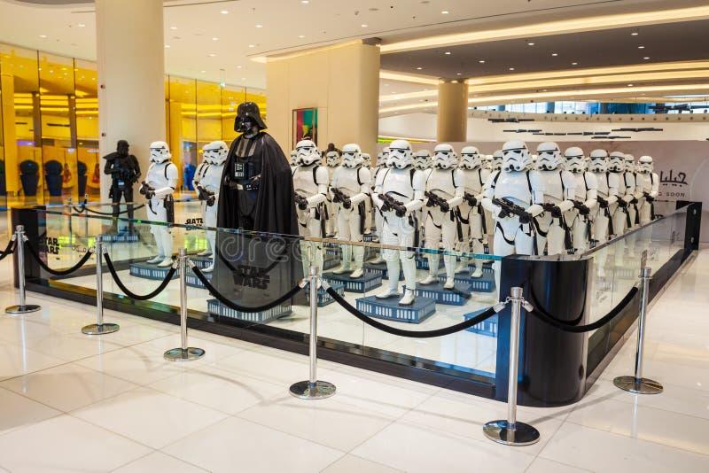 Характеры Звездных войн, торговый центр Дубай стоковое изображение