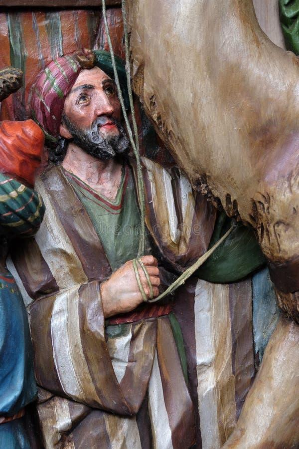 Характеры от сопроводителя библейских королей которые пришли поклониться newborn Иисус стоковое фото