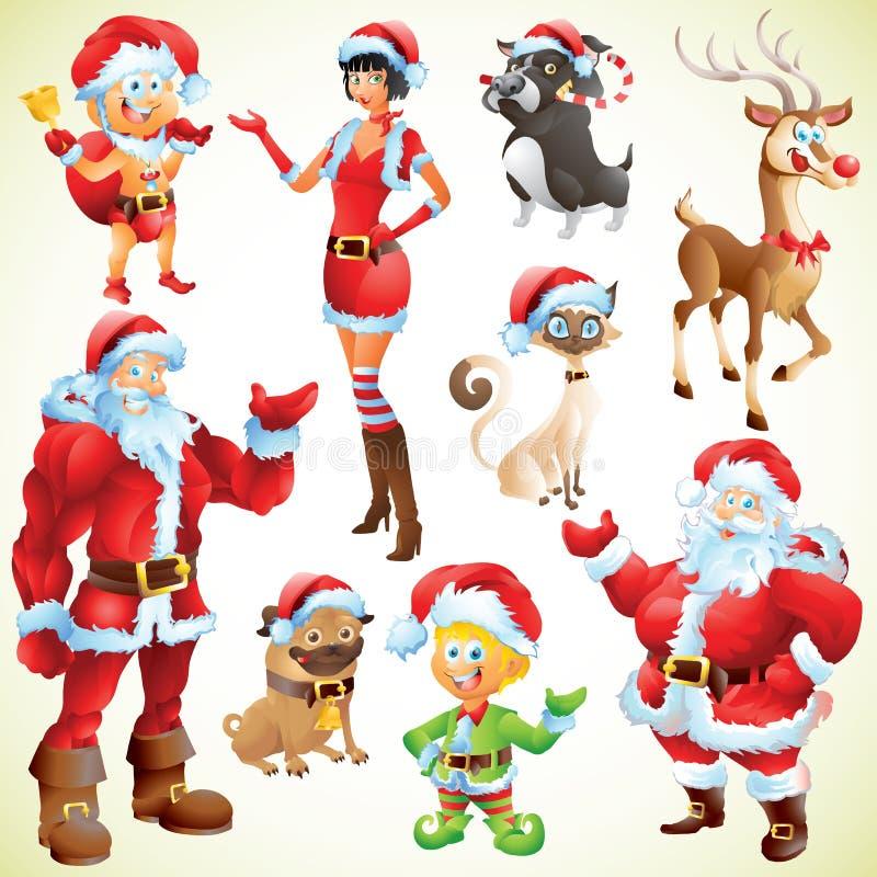 Характеры рождества бесплатная иллюстрация