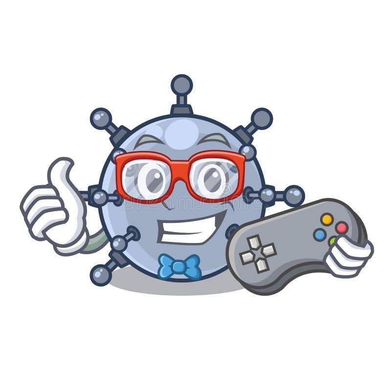 Характеры шахты игрушки Gamer подводные в таблицах иллюстрация вектора