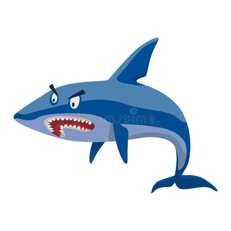 Характер акулы вектора бесплатная иллюстрация