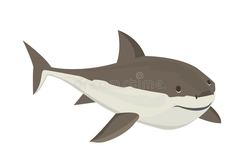 Характер акулы вектора иллюстрация штока