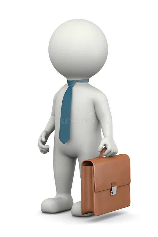 Характер бизнесмена 3D бесплатная иллюстрация