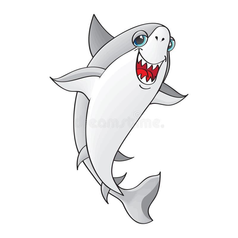 Характер вектора, акула иллюстрация штока