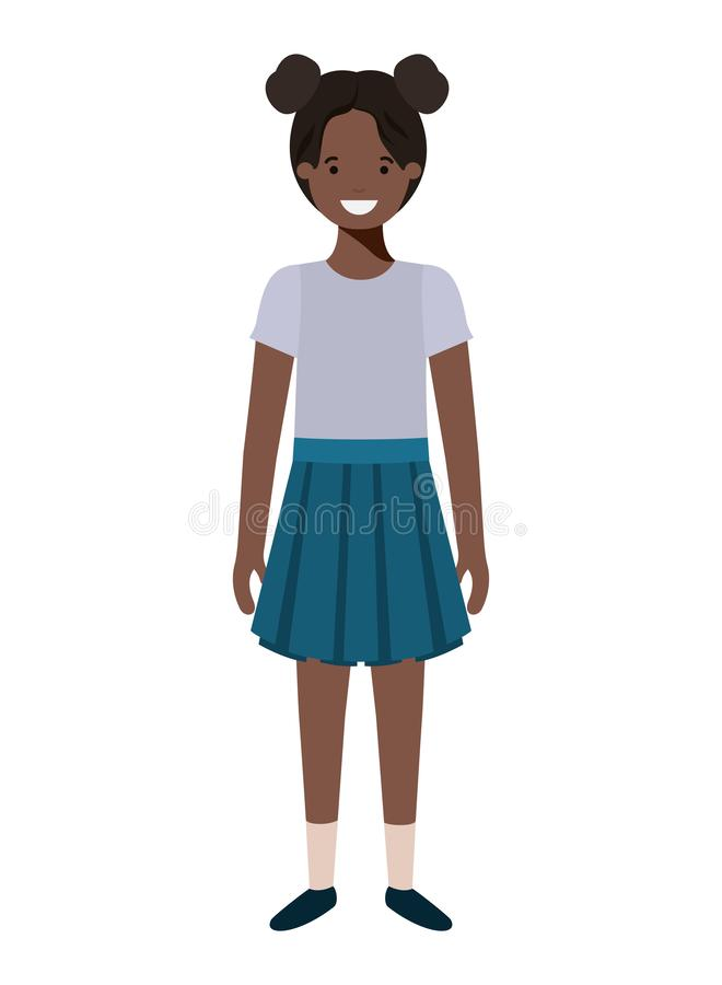 Характер воплощения девушки подростка афро иллюстрация штока