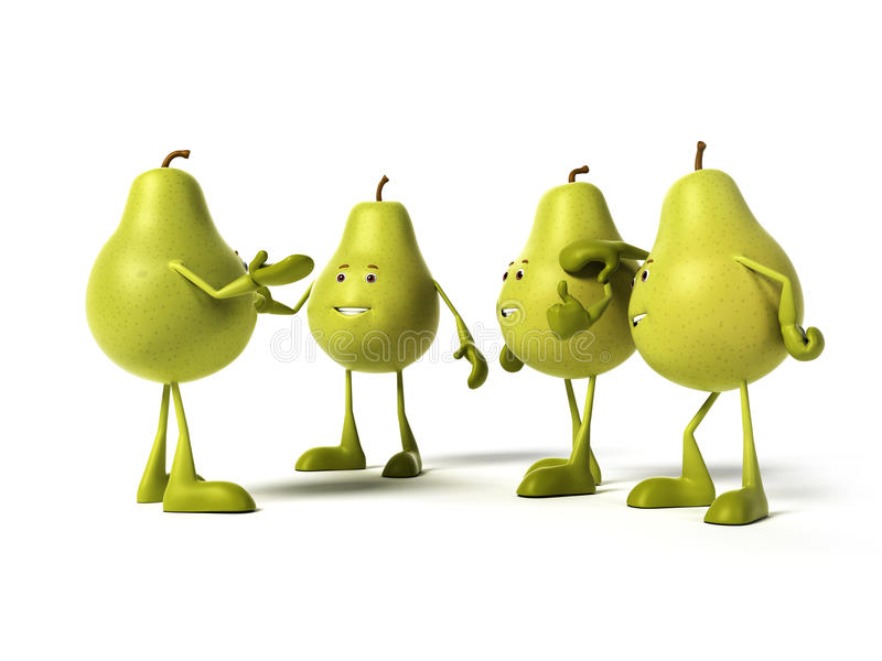 Характер еды - груша иллюстрация штока