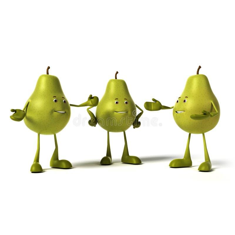 Характер еды - груша бесплатная иллюстрация