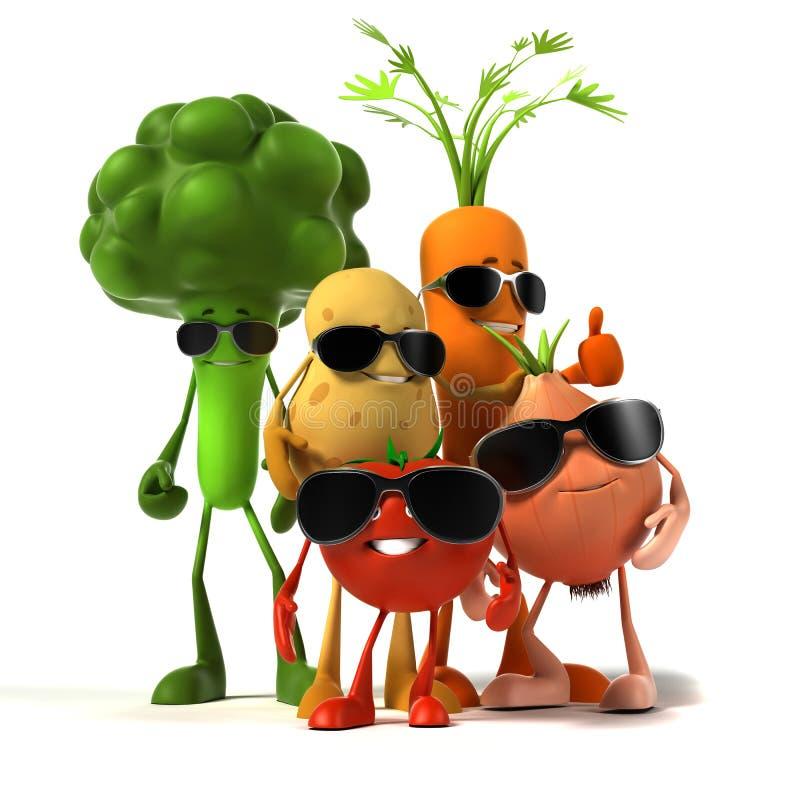Характер еды - овощи бесплатная иллюстрация