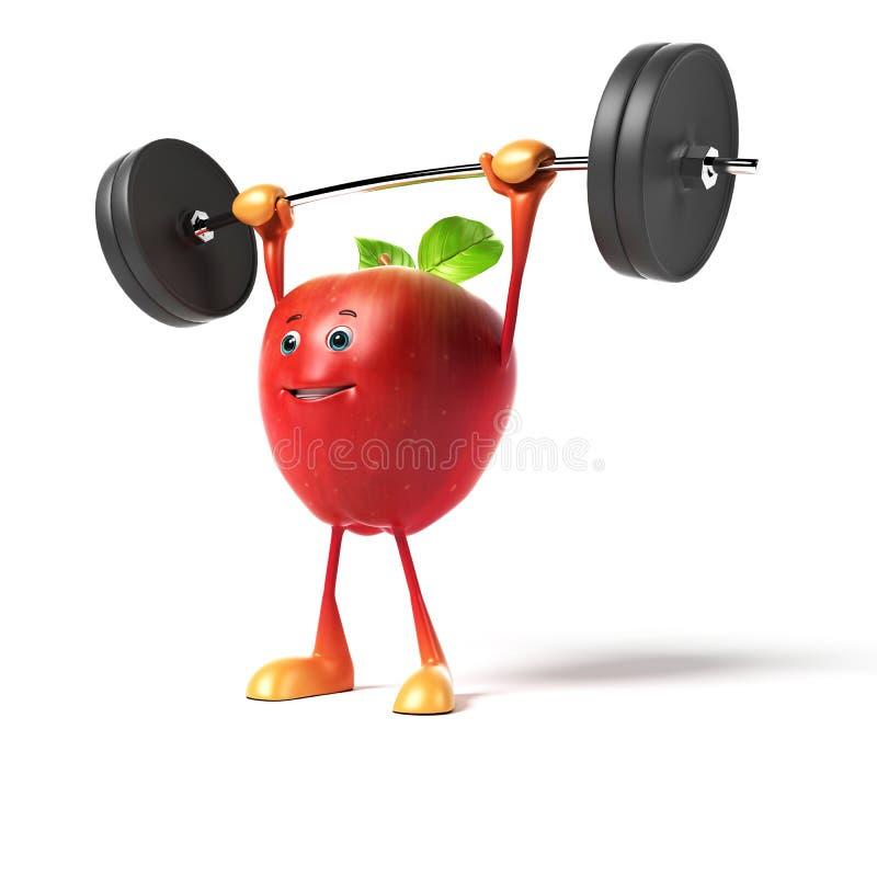 Характер еды - яблоко бесплатная иллюстрация