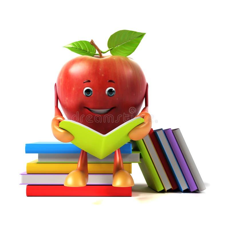 Характер еды - яблоко иллюстрация штока