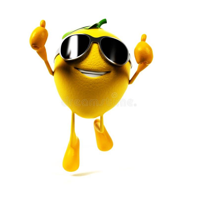 Характер еды - лимон иллюстрация штока